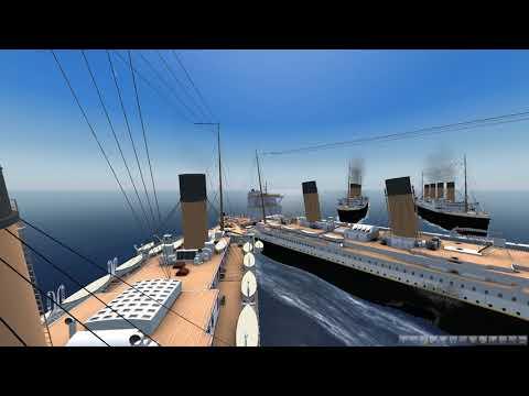 Ship Sim 2008 3 Titanics Hitting One another titanic and tanker