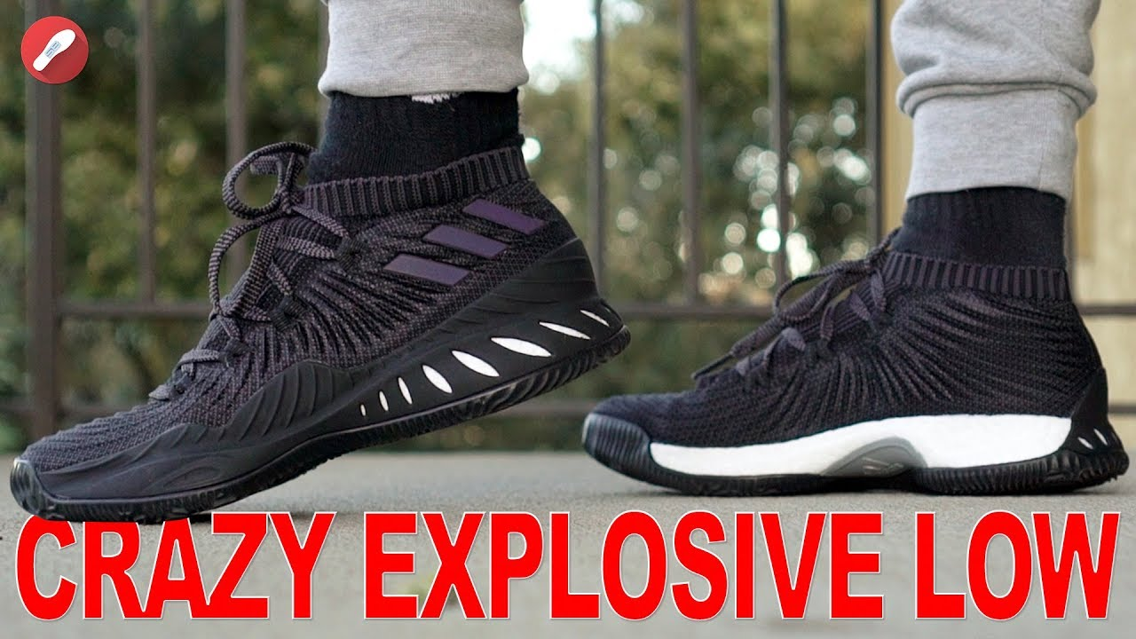 3a795253335f Adidas Crazy Explosive Low 2017 Primeknit First Impressions! - YouTube