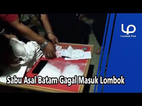 Sabu Asal Batam Gagal Masuk Lombok