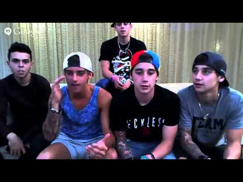 The Janoskians Google+ Hangout