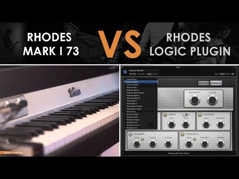 Fender Rhodes Mark I 73 VS Logic Pro X Stage Mark I Plugin