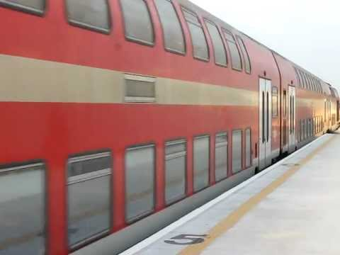 Vossloh Euro 4000 Israel Railways,new Yavne west station.יורו 4000 רכבת יבנה מערב