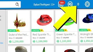 SPENDING ALL MY ROBUX IN ROBLOX CATALOG!!
