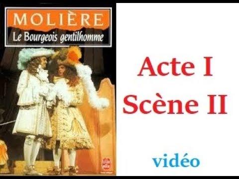 Le Bourgeois Gentilhomme Acte 1 Scene 2 Youtube