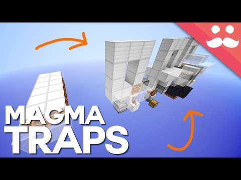 4 Simple Magma Block Traps in Minecraft 1.10!