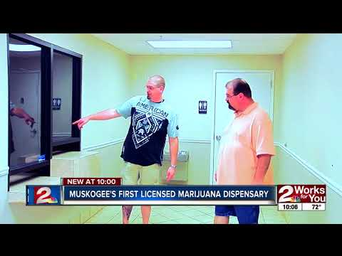Muskogee's first licensed marijuana dispensary - YouTube