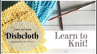 Learn to Knit - Dishcloth (Continental Method)