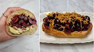[1분완성] 단짠 브라운치즈 체리 샌드위치 만들기 ma…