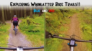 EXPLORING WHINLATTER BIKE TRAILS WITH KAT!! RED + BLUE