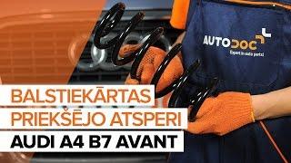 priekšā kreisais labais Piekare uzstādīšana AUDI A4 Avant (8ED, B7): bezmaksas video