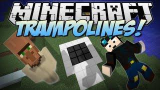 Minecraft | TRAMPOLINES! | Mini Mod Showcase [1.6.2]