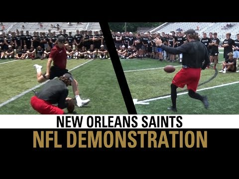NFL Kicking & Punting Demonstration | New Orleans Saints