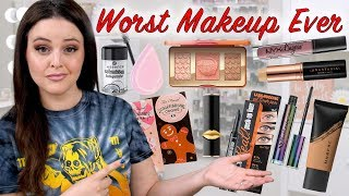 20 WORST makeup products from 20 brands in Under 20 Minutes!