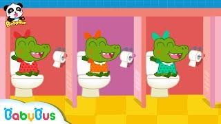 Five Crocodiles Wanna Go to Toilet Potty Training for Kids Restroom Safety Tips BabyBus