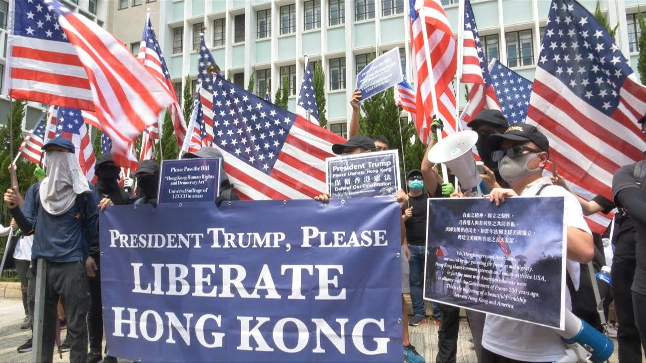 Huge crowd takes Hong Kong protest message to US consulate