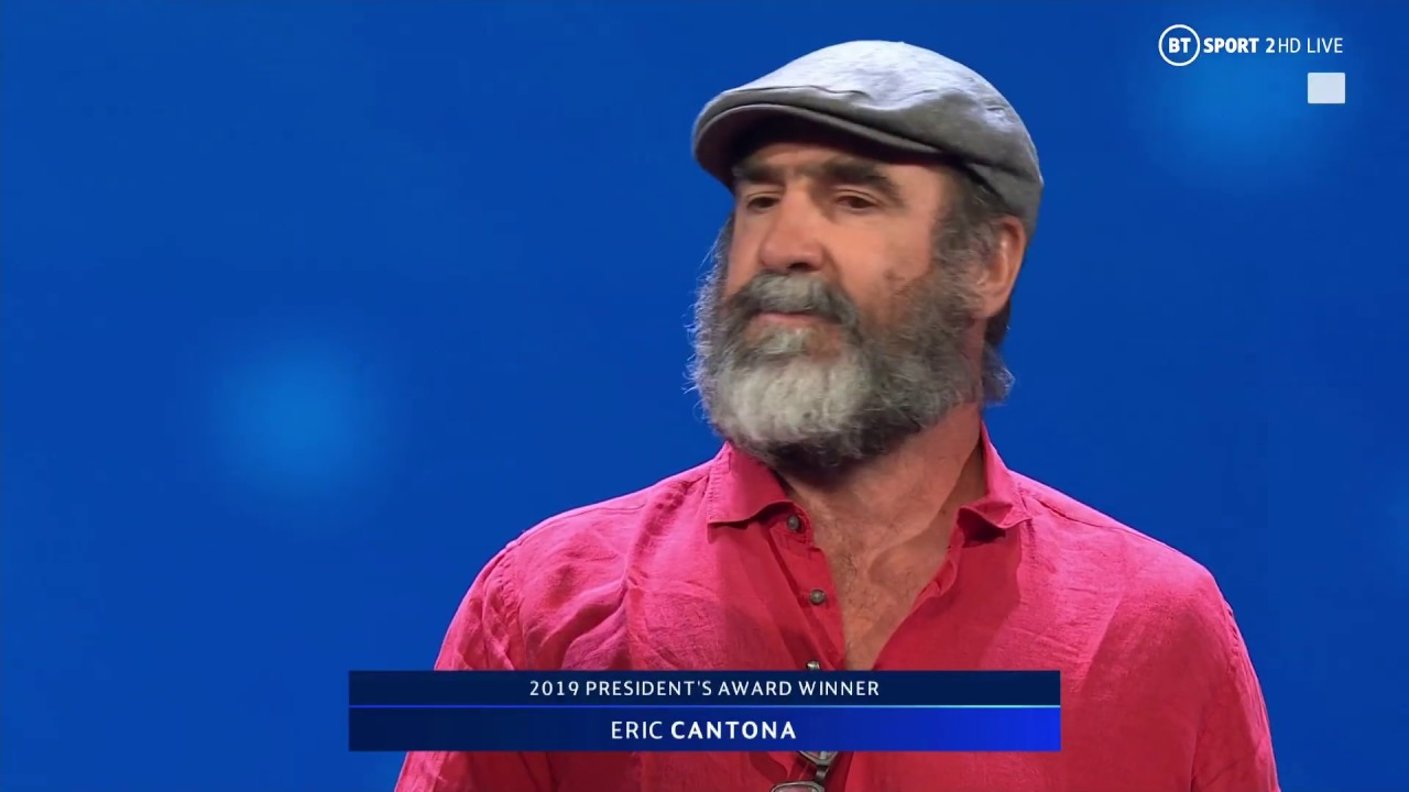 I still support united and always will. Eric Cantona Gives A Bizarre Yet Brilliant Speech After Picking Up Uefa President S Award Youtube