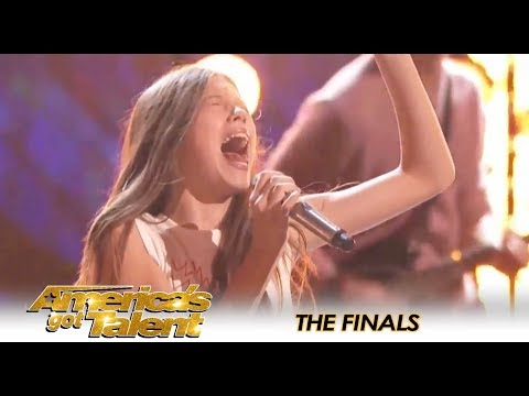 Courtney Hadwin Brings ROCKER STYLE To Tina Turner Song On AGT Finales 😍  America's Got Talent 2018