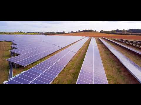 Drone Filming at UK's first Subsidy free solar farm