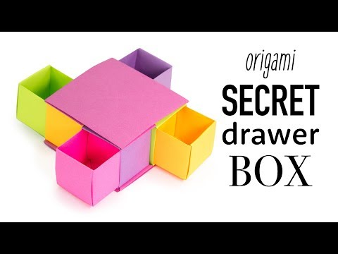 Origami Secret Drawer Box Tutorial - DIY - Paper Kawaii