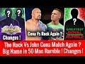 Wrestlemania 34 Plan Changes ! The Rock Vs John Cena ? Big Superstar in 50 Man Royal Rumble Match !