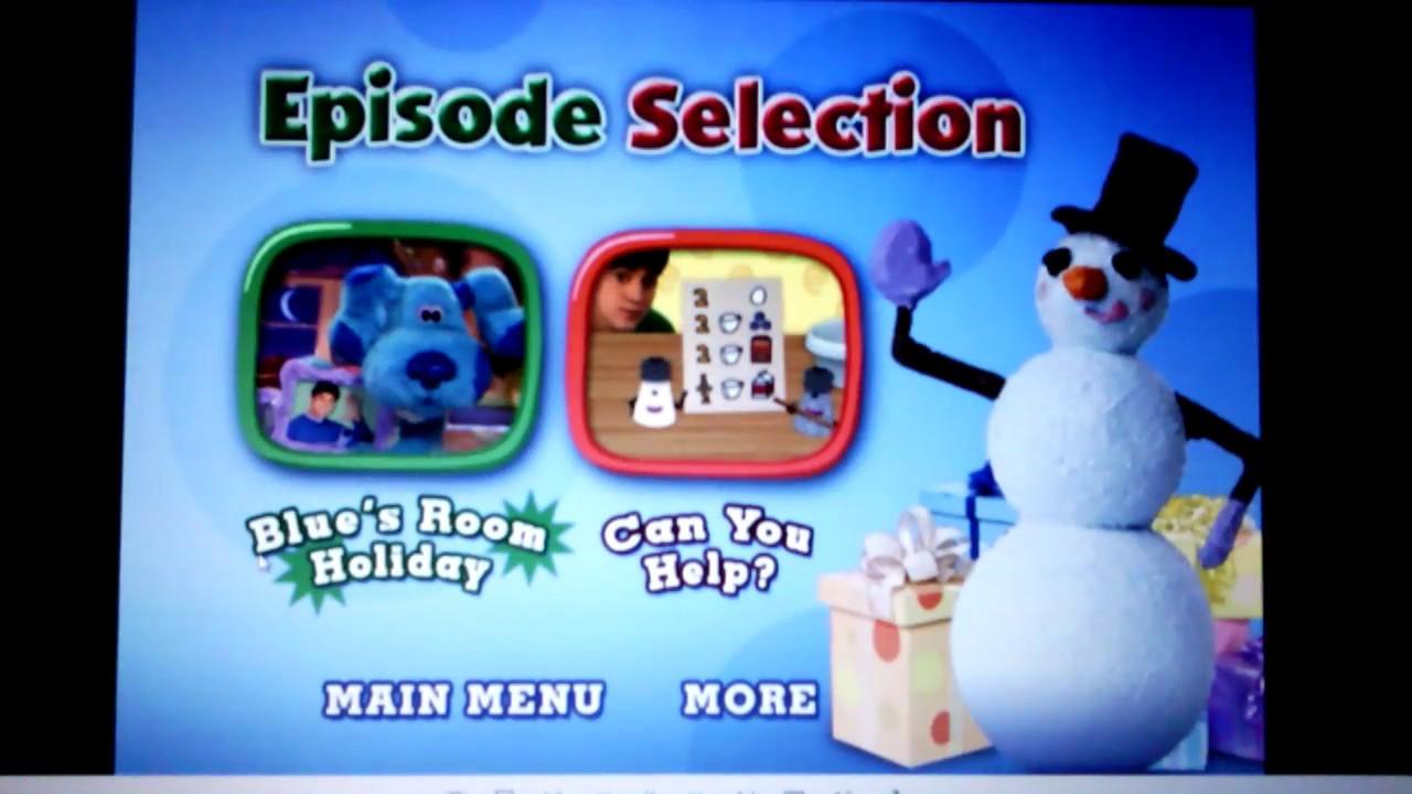 Nick Jr Blue S Room Holiday Wishes Menu Fail Youtube