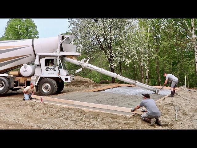 Pouring the Foundation for the BARN we ORDERED on the INTERNET in 19 MINUTES
