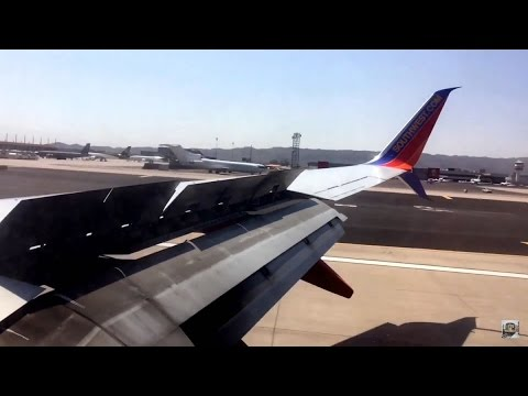 Rough Landing At Phoenix Sky Harbor International Airport (PHX)- Southwest Airlines (HD) (60FPS)