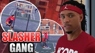 Don't Jump With A Pure Slasher! Pure Sharp vs. Pure Slasher - NBA 2K18 Playgrounds Gameplay