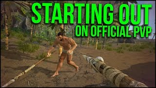STARTING OUT ON THE NEW SERVERS! | ARK Official PvP - Ep.1