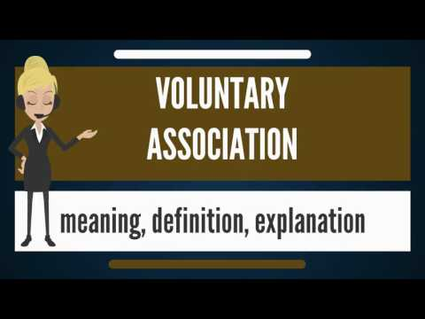 What is VOLUNTARY ASSOCIATION? What does VOLUNTARY ASSOCIATION mean?