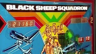 1979 Astro BLACK SHEEP SQUADRON Pinball Machine in action