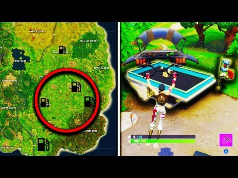 "Fortnite ""Visit different Gas Stations in a single match"" Week 5 Challenge Gas Station Locations"