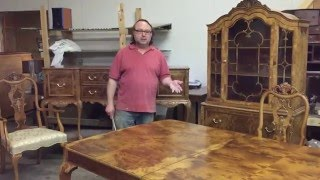 Refinishing Batesville dining table,chairs,china,buffet