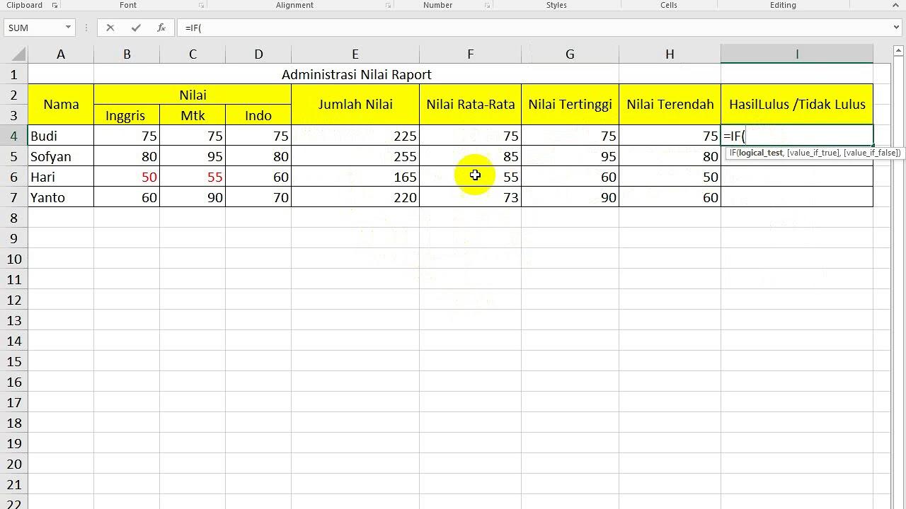 Contoh Soal Excel Tes Kerja Untuk Administrasi Youtube