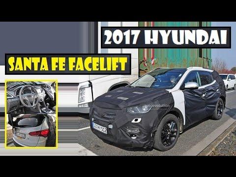 2017 hyundai santa fe facelift spied get new lights and. Black Bedroom Furniture Sets. Home Design Ideas