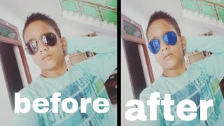 How to change colour of your sunglasses.. PicsArt tutorial