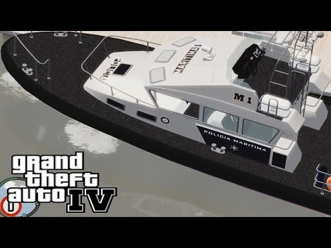 GTA 4 Portugal Marine POLICE in action + Free Music