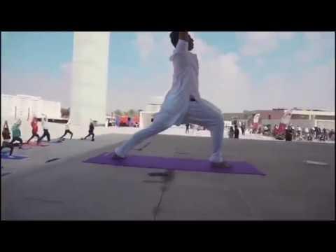 National Sports Day  Yoga at Qatar Foundation  l Swasthi Yoga Studio Doha