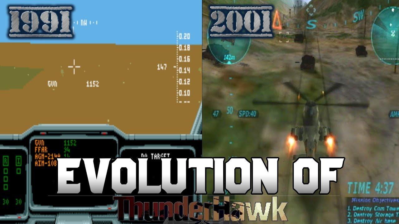 Graphical Evolution of Thunderhawk (1991-2001)