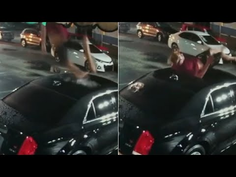 CRob - Florida Man in Swim Trunks Falls Out of Sky Onto Car's Roof, Walks Away