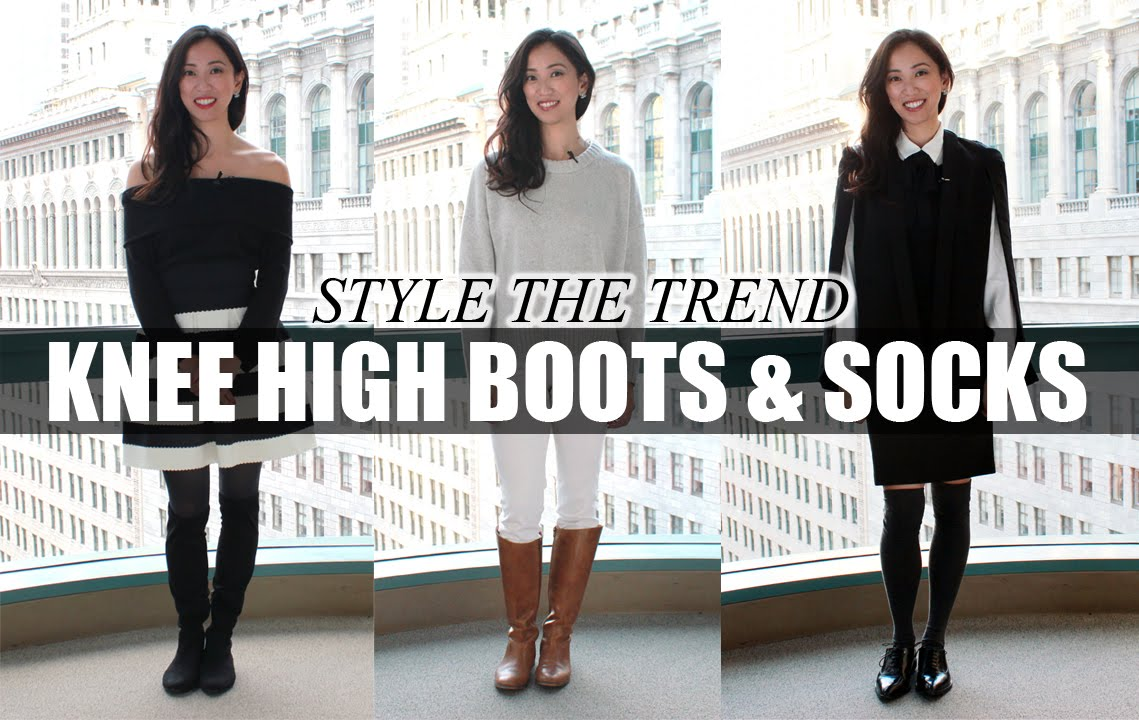 2d5dc0af5c0d How To Style Knee High Boots & Knee High Socks | LookMazing - YouTube