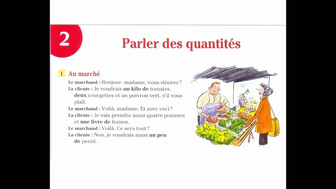 Dialogue En Francais Nº 03 Parler Des Quantites Au Marche