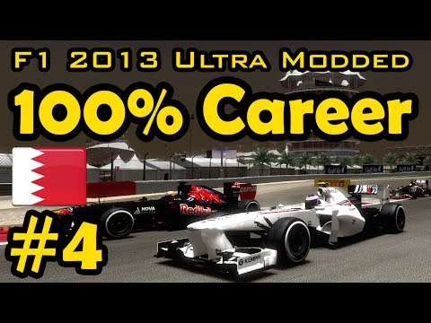 F1 2013 100% Race Ultra-Mod Career - Bahrain Grand Prix (Night Race)