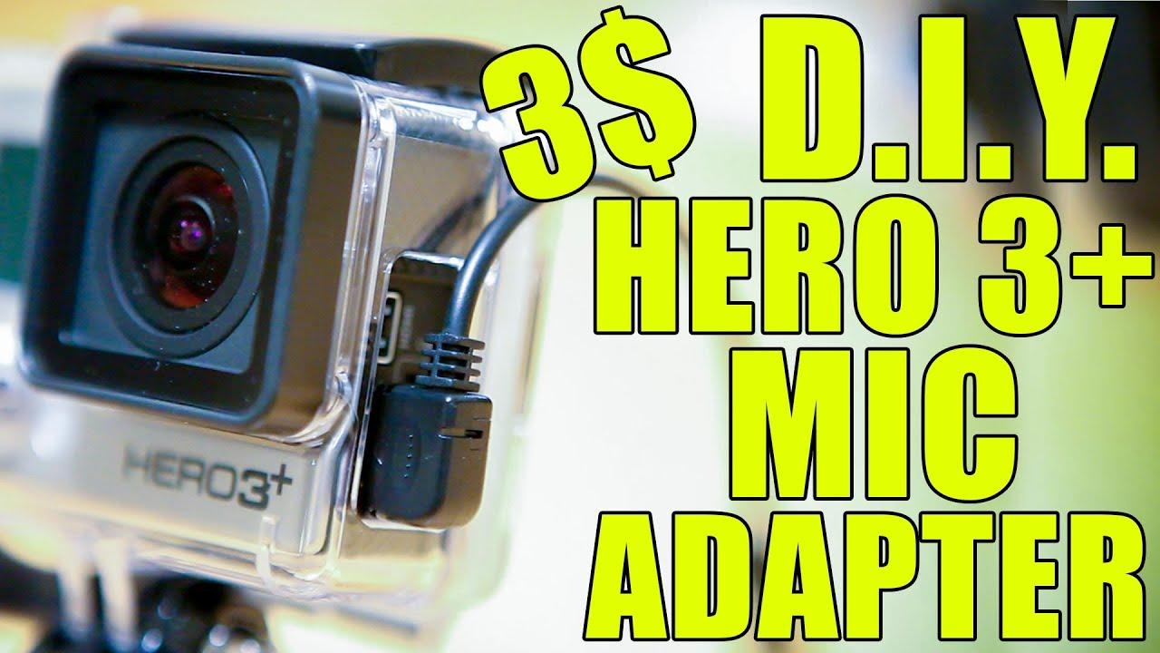Usb Microphone Wiring Diagram Diy Gopro Hero 3 4 90 Degree Microphone Adapter Youtube