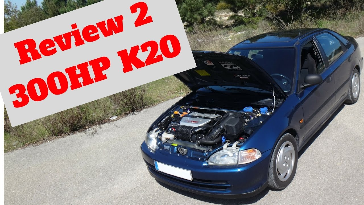 Honda Civic VTi EG9 K20 SuperCharger Portugal Stock and Modified Car Reviews - YouTube