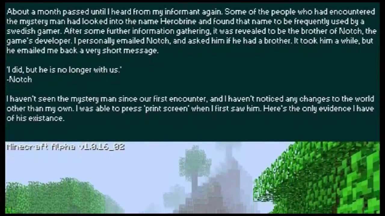 Herobrine – Official Minecraft Wiki