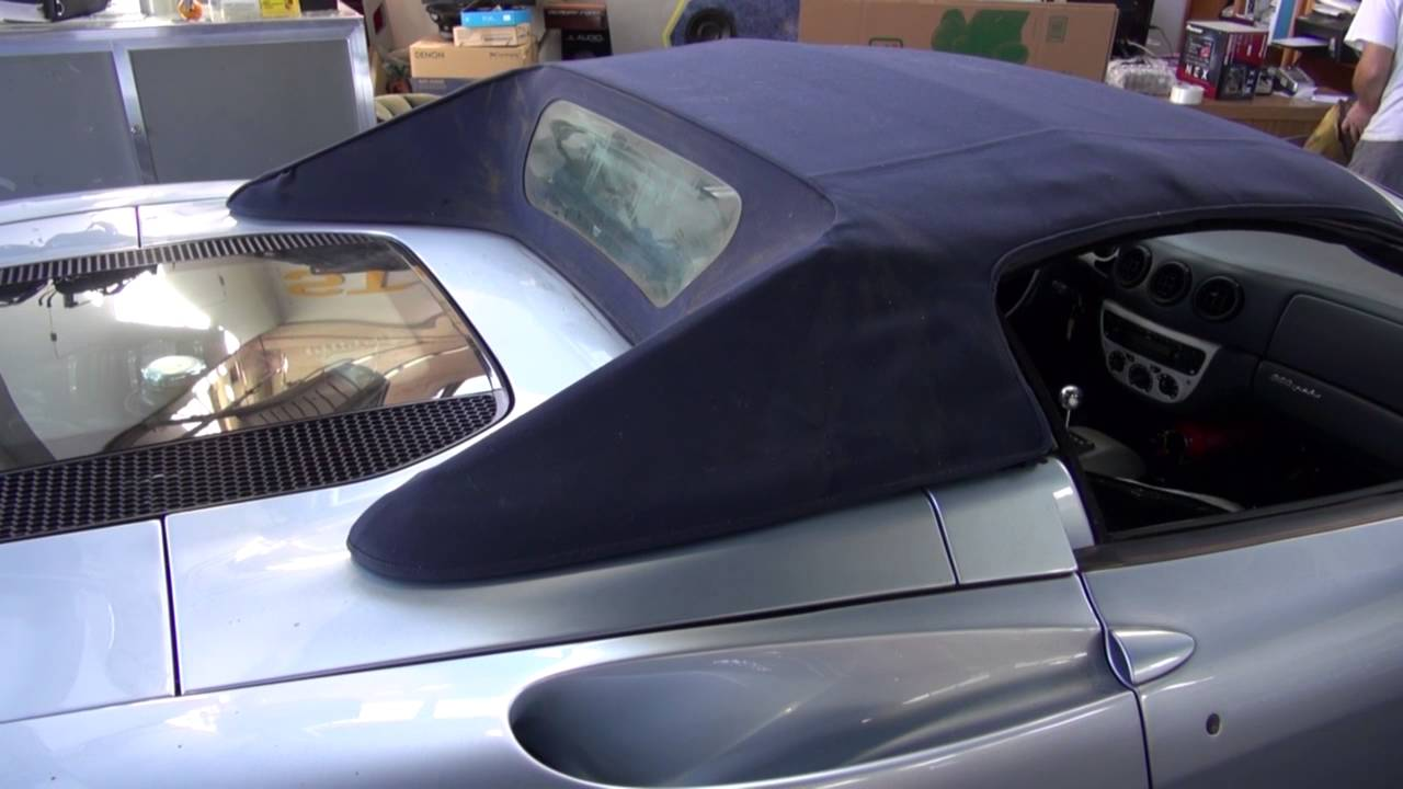 Ferrari 360 Convertible Top Repair By Cooks Upholstery Redwood City