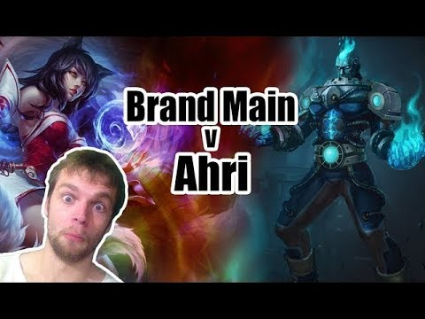 Brand Mid vs Ahri - Great game! live commentary game play - season 9 brand mid