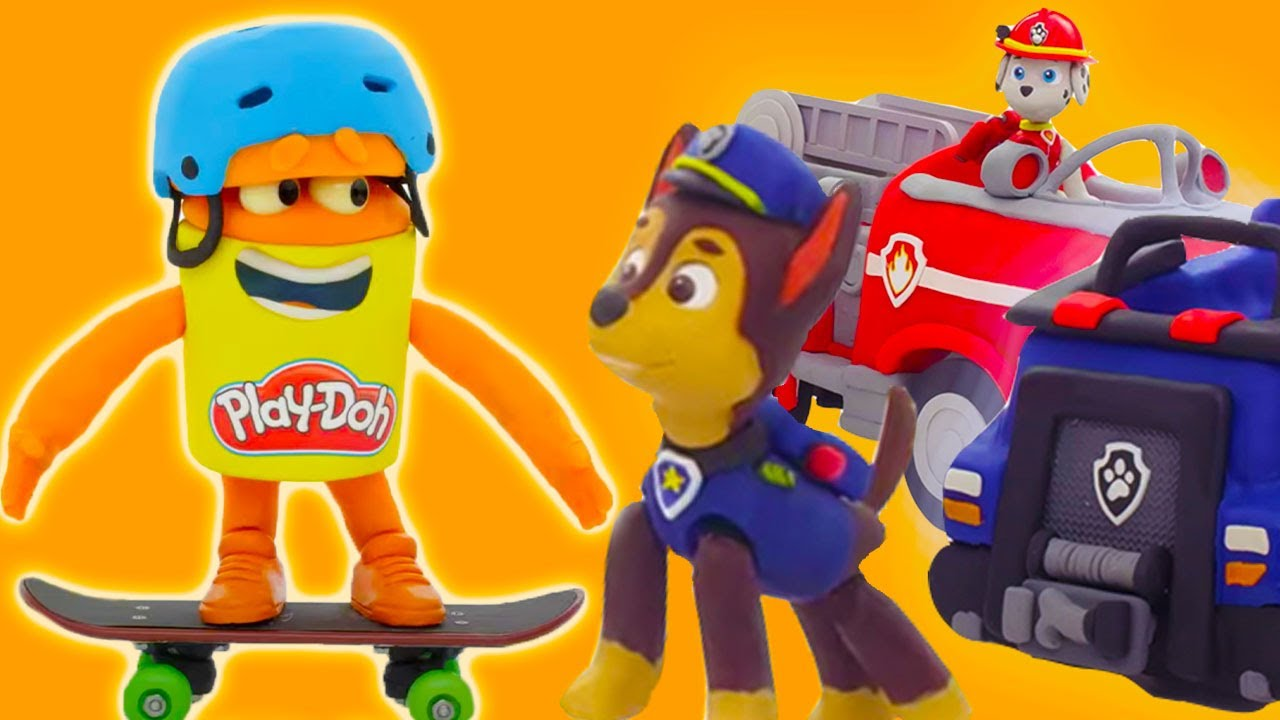 Play Doh Videos | Paw Patrol Rescue Rides! | Stop Motion | Play-Doh Official