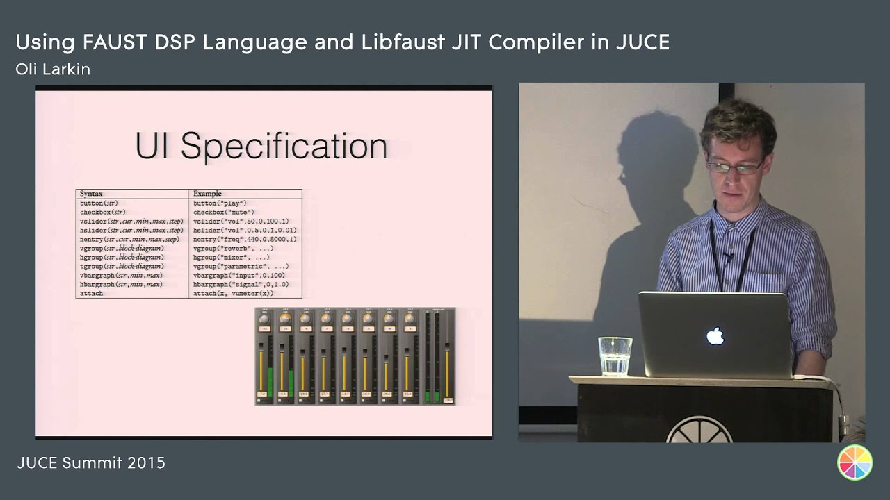 Using the faust dsp language and the libfaust jit compiler with juce using the faust dsp language and the libfaust jit compiler with juce oli larkin juce summit 2015 ccuart Gallery